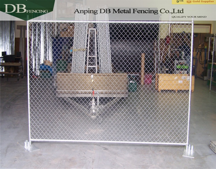 Cheap Stand-alone Temporary Construction Chain Link Fence Panels