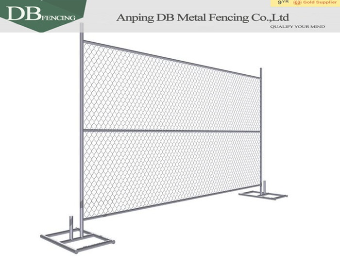 6'x10' portable chain link fence panels with stand for sale