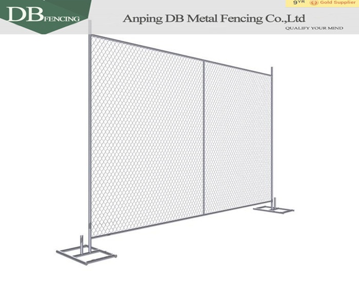 Portable Construction chain link fence panels