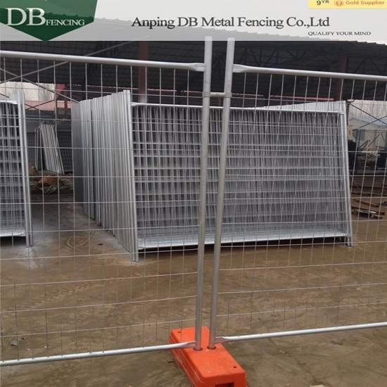 14 microns hdg zinc Construction Temp Fence Panels OD32mm wall thick 2.0mm Infilled Mesh 4.0 x 150 x 60mm