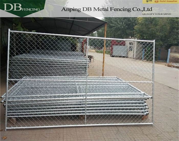 How do you install a temporary chain link fence