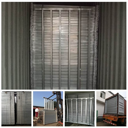 40x40 1.8M x 2.1M Heavy Duty Portable Cattle Yard Panel 6 Oval Bars 30*60mm