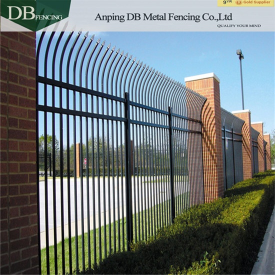 Galvanized and Powder Coated Steel Picket Fence