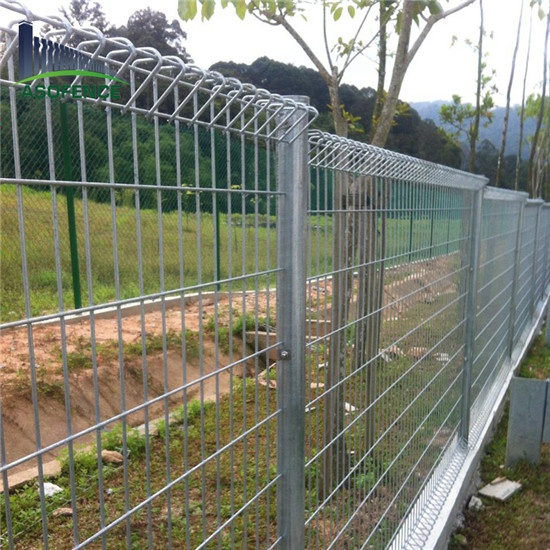 Distinctive New Zealand bow top fence panels for Airport