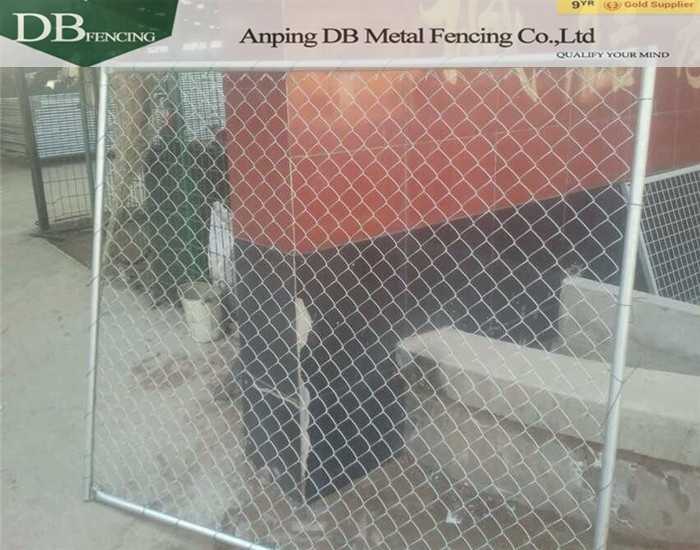Hot dipped galvanized removable temporary construction chain link fence