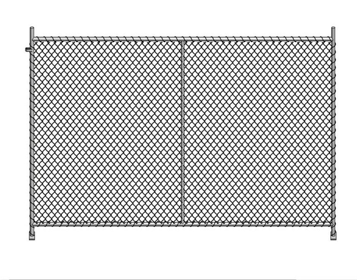 Low construction barrier 0range mesh chainlink 3.0x1.1m