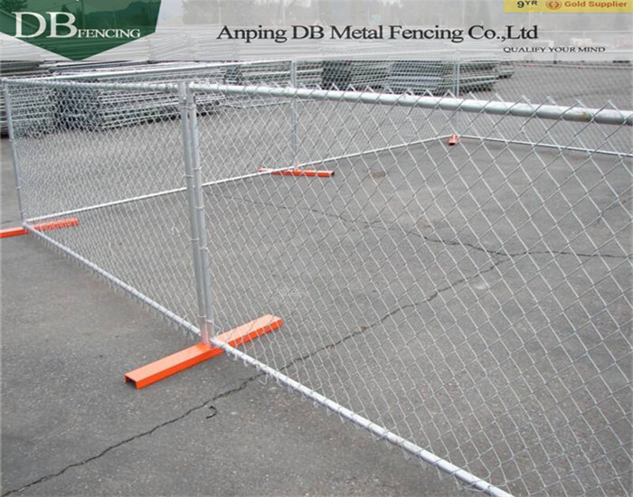 Heavy-duty 4ft H x 10ft L temporary fence panels for US market