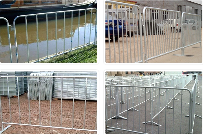 a picture of crowd control barrier used in construction site