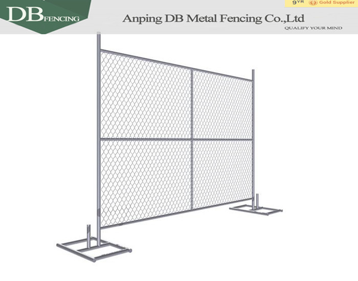 chain link fence panel with stands drawing