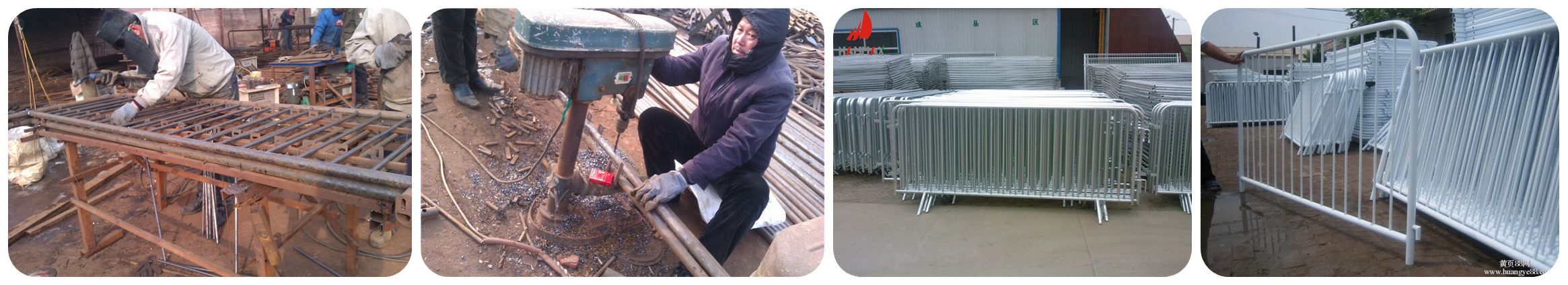 steel barricades welding and     galvanzied processing
