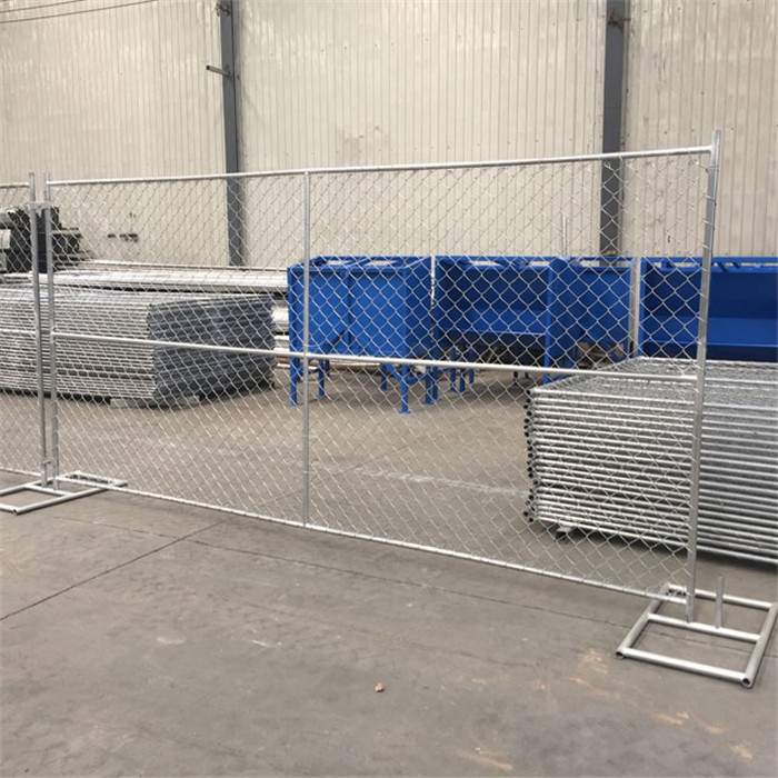 temporary chain link fence installed in our workshop