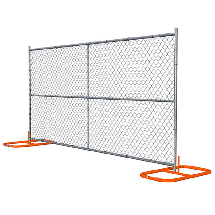 temporary chain link fence drawing with stands