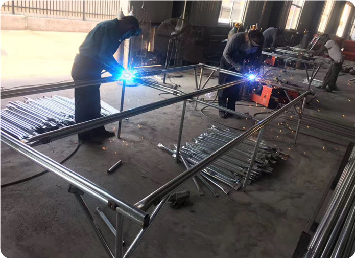 temporary fence panel welding process