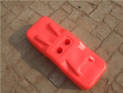 Stackable Design 610 x 220 x 150mm temporary plastic feet used to support the temporary fence