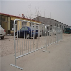 2.0 x 1.1m Galvanized Steel Barrier Flat Cross Bridge Base