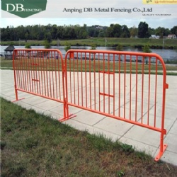 1.25 Rail Powder Coat Steel Crowd Control Interlocking Barrier