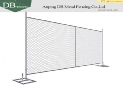 Trade assurance hot dipped galvanized 6'x12' temporary chain link fence panel