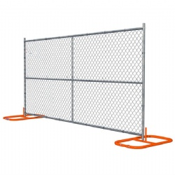 Hot Dipped Galvanized Temporary Chain Link Fence